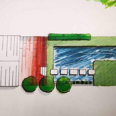Wallner Gartengestaltung Skizze 1