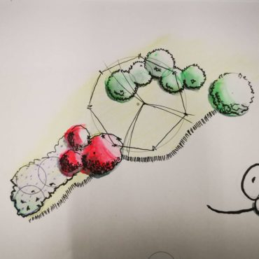 Wallner Gartengestaltung Skizze 2